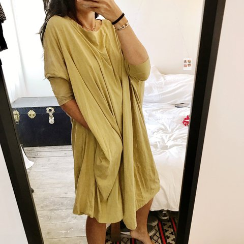 7d698719e6b Huge oversized t shirt dress from H M. Mustard colour with - Depop