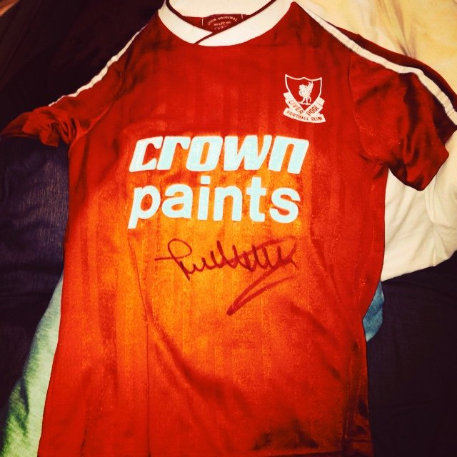 e4cd4377890 Jan molby signed retro liverpool top good condition not been - Depop