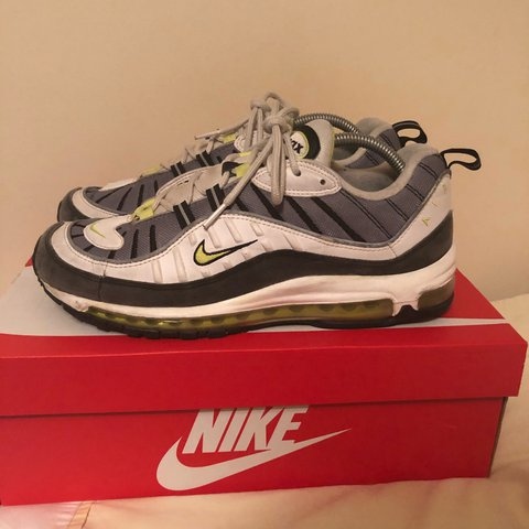 "Air Max 98 ""Volt"" in UK9.5. Shoe is in 8 10 condition box - Depop 3774718e5"