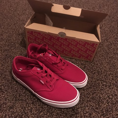 b4dacfe939e548 Brand new size uk 6 red vans Atwood canvas unisex - Depop