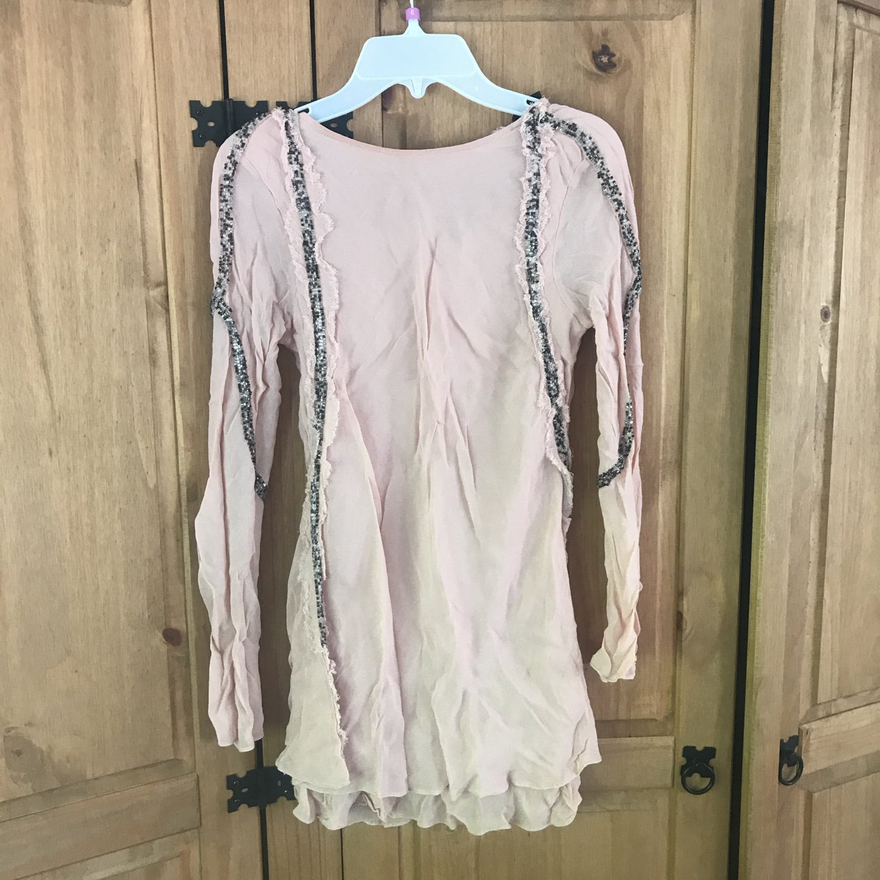 219f5584a8b5e Topshop nude sheer top with