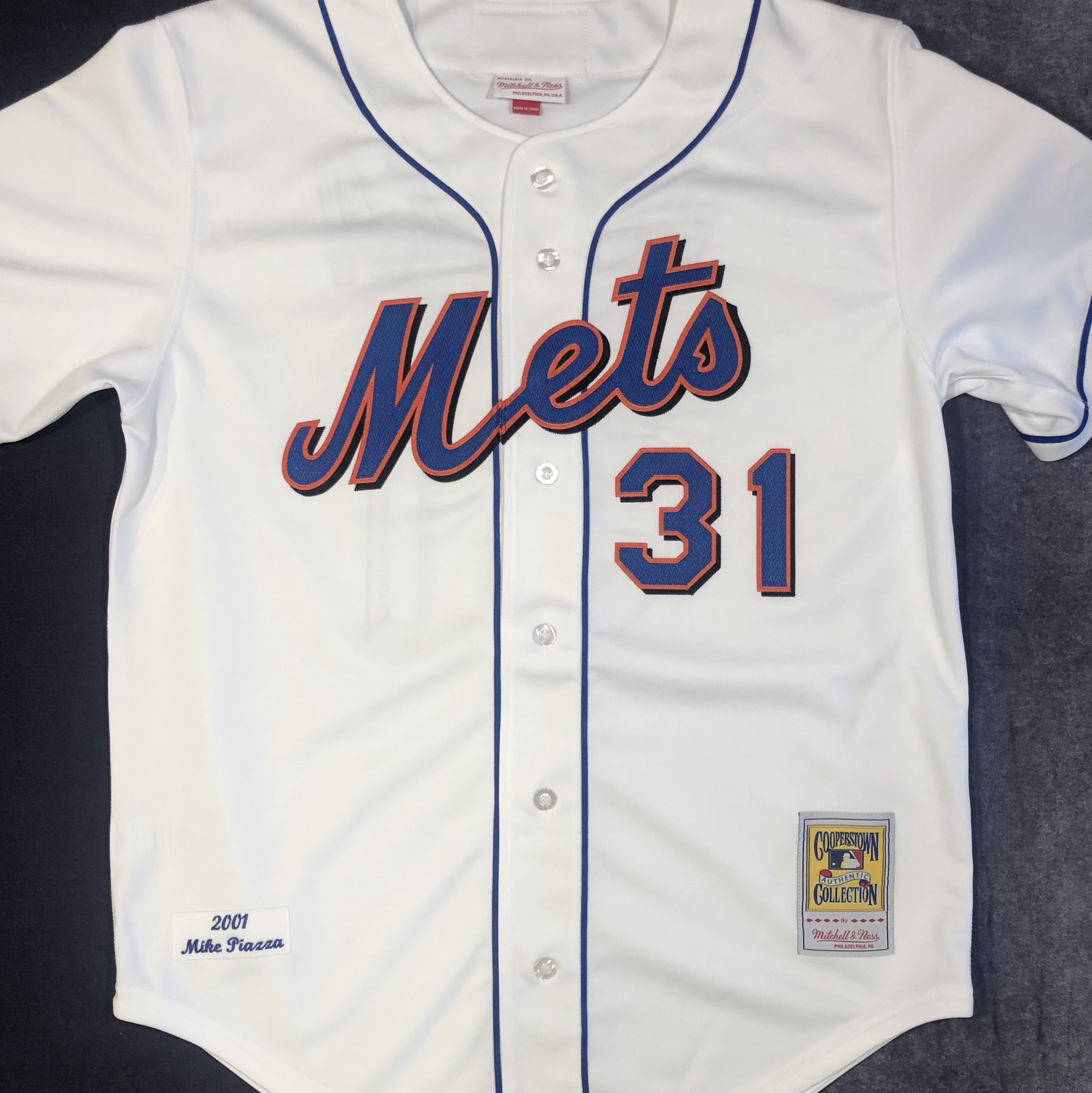 new product 91296 620c3 Brand new Mitchell and Ness authentic mike piazza... - Depop