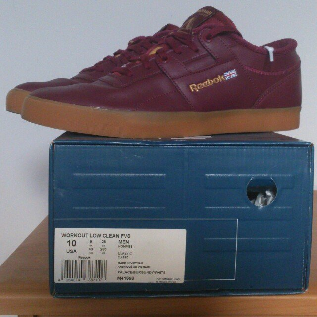 Reebok x palace workout low  burgundy extra laces (white) - Depop ad8ddd757