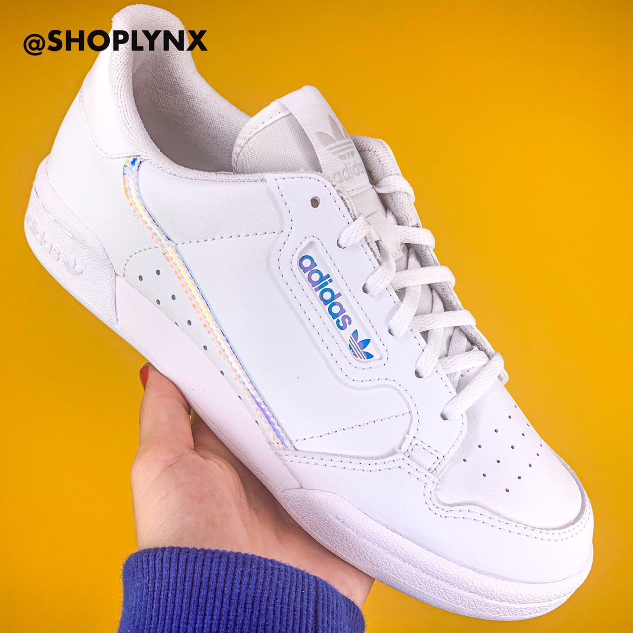 Adidas Continental 80 White Holographic