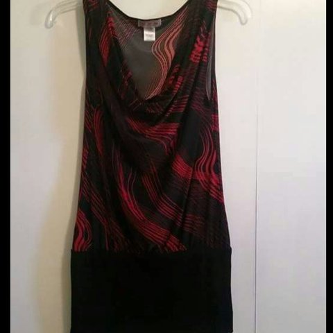 9afe9b44d46 Red   black mini dress from Belk. Size S. No tags