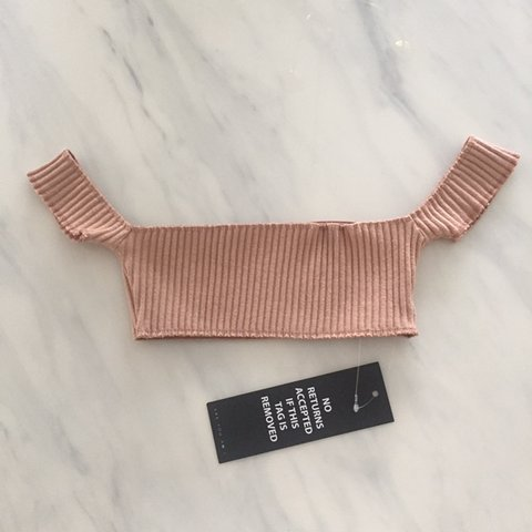 f0ee0f7a5d578a NWT Are You Am I Bra top in the color nude (NOT black). and - Depop