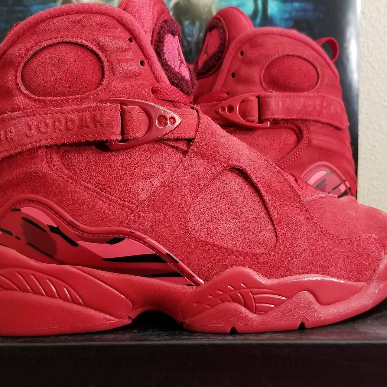 super popular b9bbf ba4a3 Air Jordan 8 Valentines day size 8.5 Used, very good... - Depop