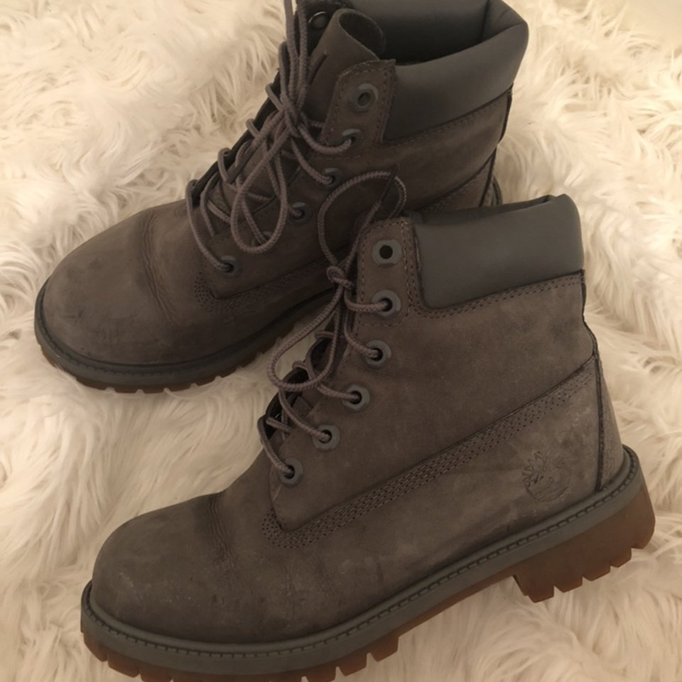 Gently worn timberland boots Youth size