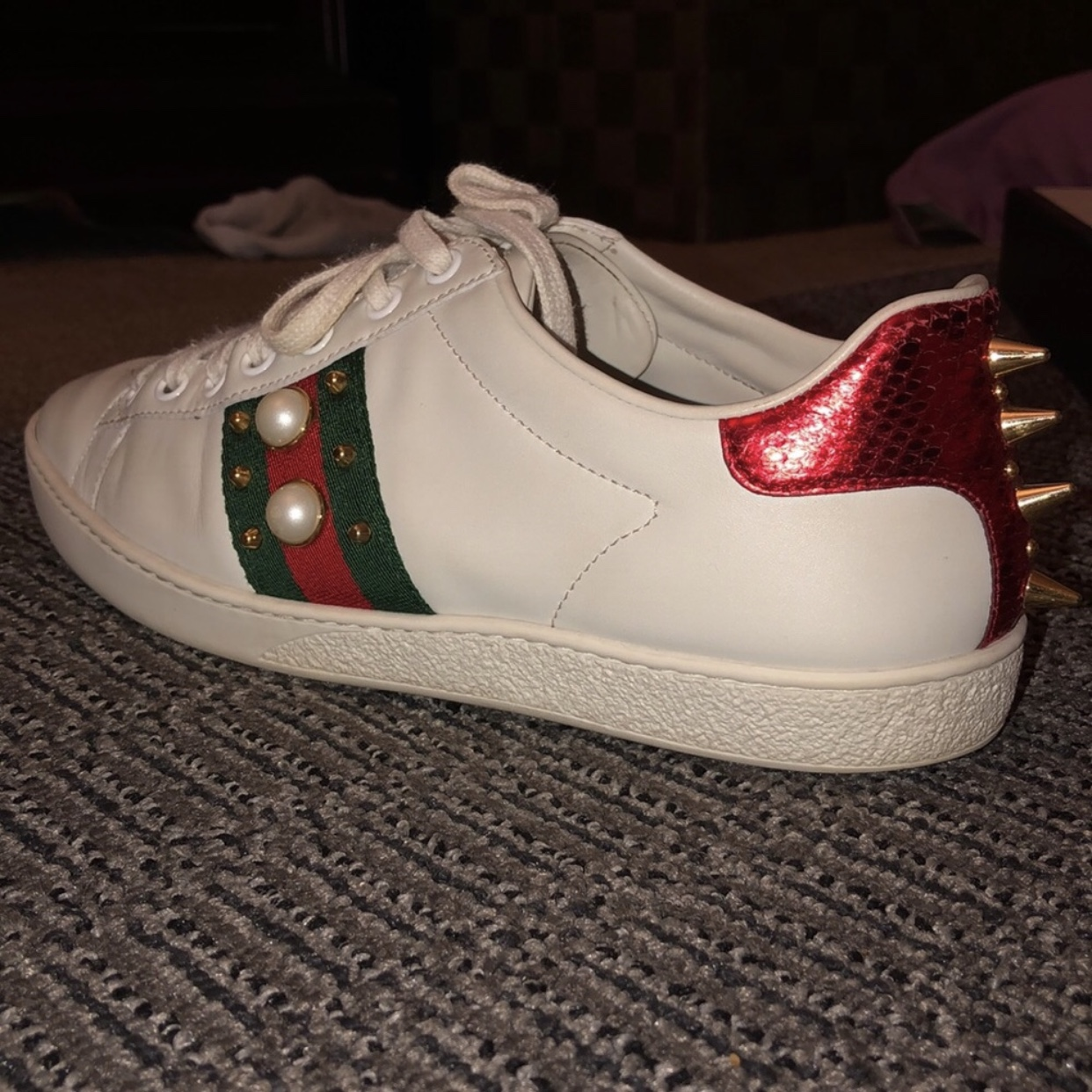 Gucci Ace Sneakers. Used and creased on