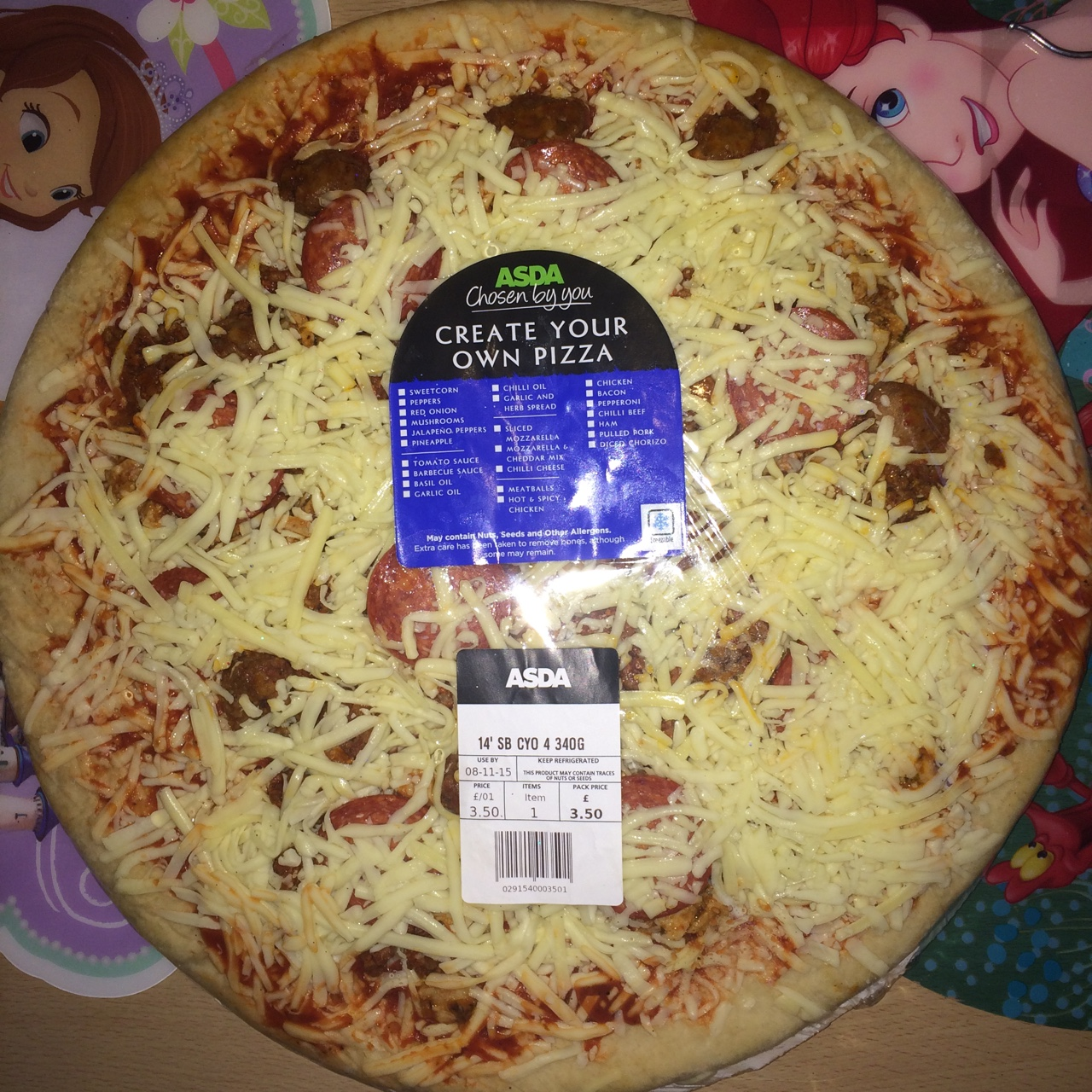 Asda Deep Pan Pizza Meatballs For Sale This Is The Depop