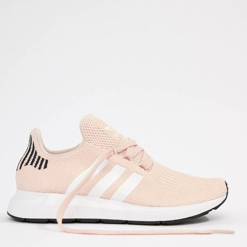 c6cad8fd38060 Adidas swift run running trainers in nude pink. Size 6   for - Depop