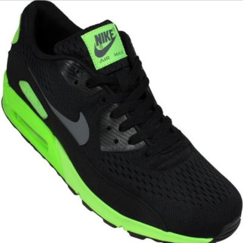 1c16a428e1 ... usa authentic nike air max 90 black and neon green size 7 worn depop  09cfd dba08