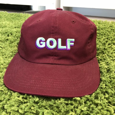 8a87c3f9863d Golf Wang logo burgundy red hat. Great condition and perfect - Depop