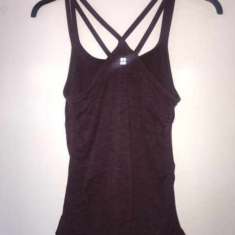 4dfa16d834a Sweaty Betty fitted Yoga vest. Super soft and easy to move a - Depop