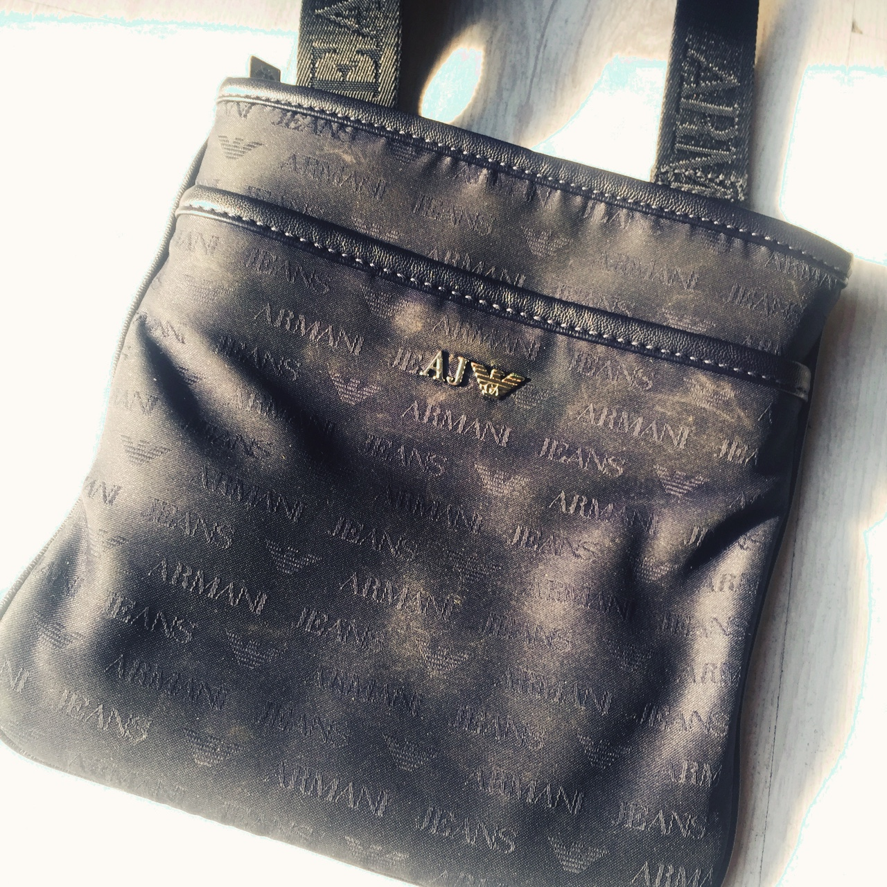 c37a8bff ARMANI JEANS MAN BAG 10000% REAL BOUGHT FROM... - Depop