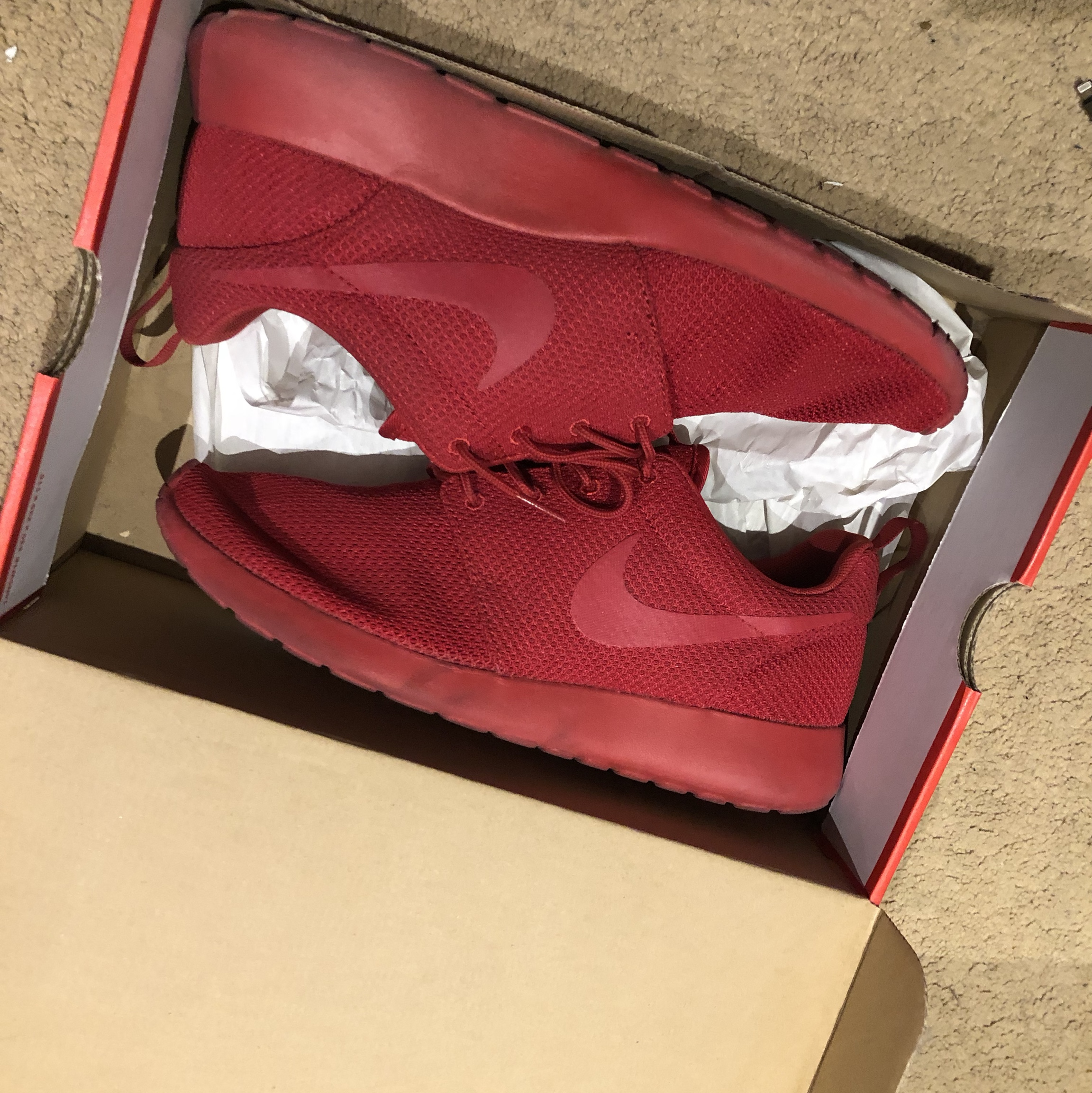 sale nike roshe run mens red red october 5609c d27a5