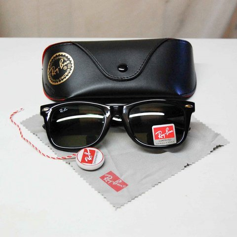 5088d25513 Wanted ladies black ray ban wayfer ! Black lens ------ real - Depop