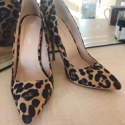 ad3b1a5dc171 @maryasaz. last year. United Kingdom. Leopard print court shoe (from  PrettyLittleThing). Pretty much brand new only worn once!