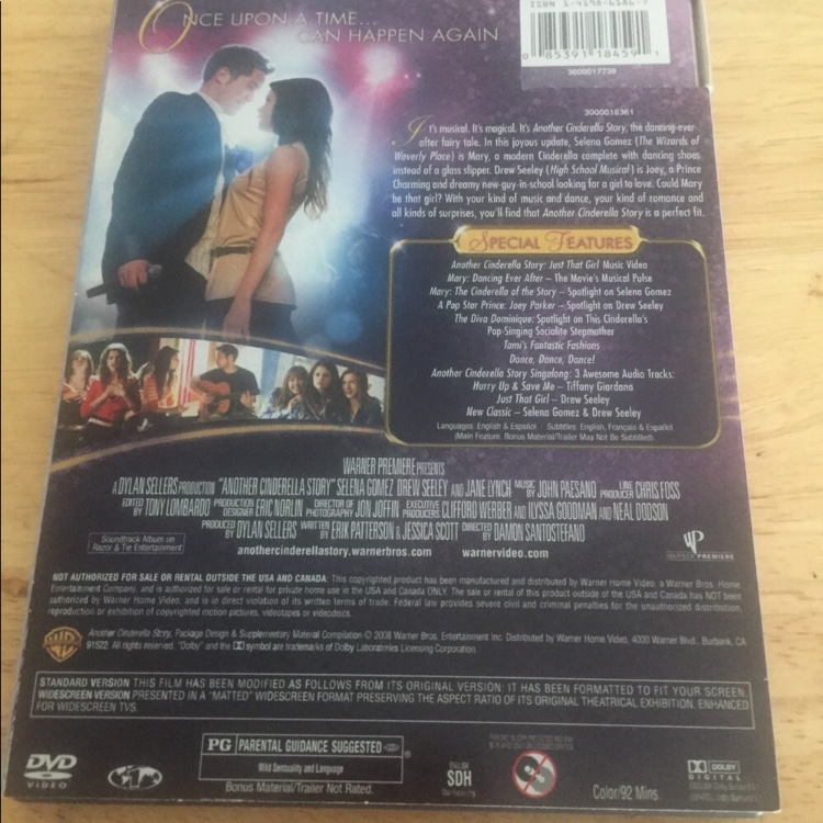 Another Cinderella Story DVD, I really don't enjoy    - Depop