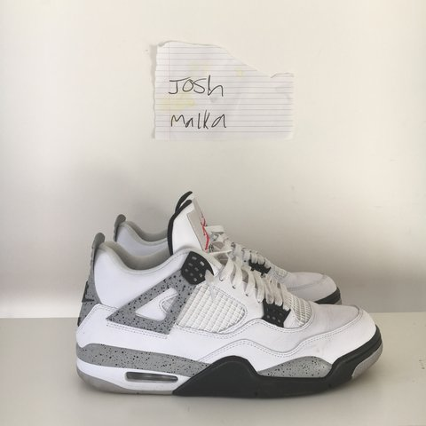 ad1708f99a0 @joshmalka. 3 years ago. London, UK. NIKE AIR JORDAN 4 WHITE CEMENT 2016  RELEASE.
