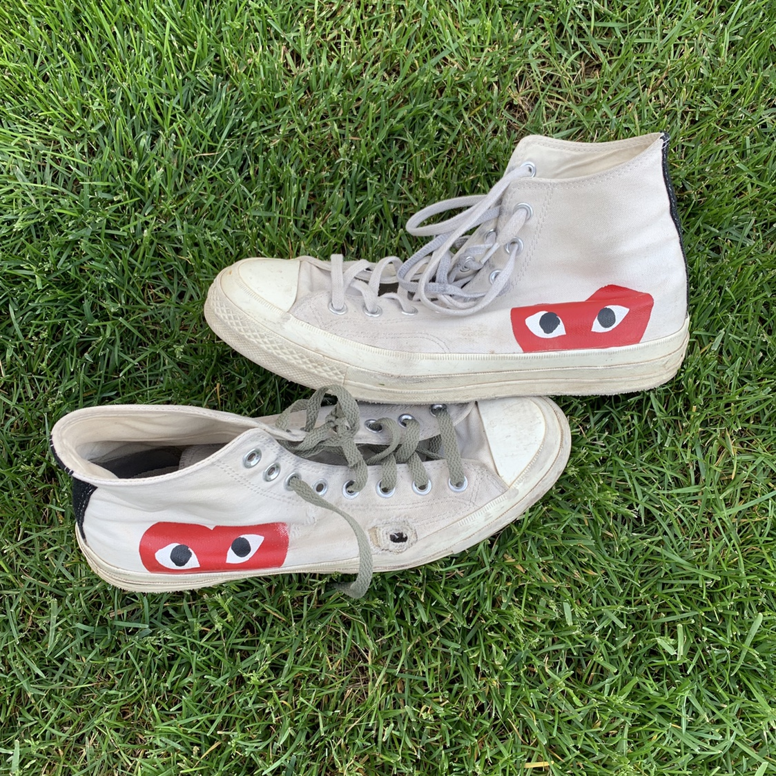 """a0d05098299 Cdg Converse """"Skate Distressed"""" haha. These are... - Depop"""