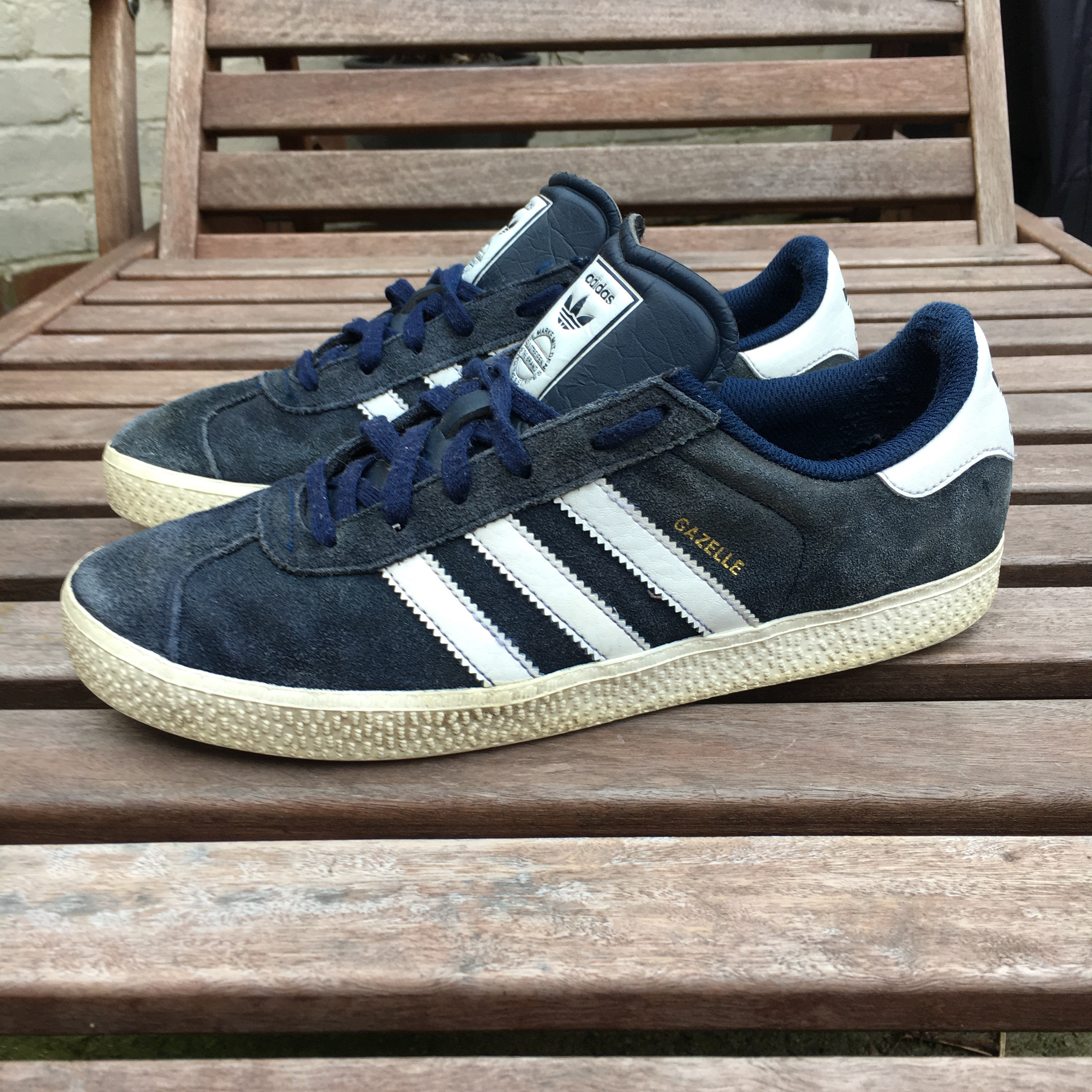 Adidas Gazelle Navy Blue Suede Trainers