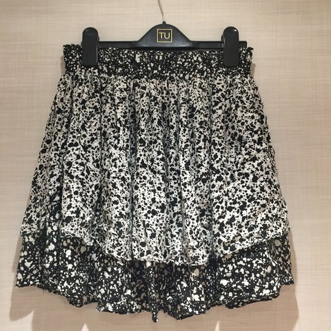 d564499c75 Zara skater skirt in size Medium. Contrast layers. Only worn - Depop