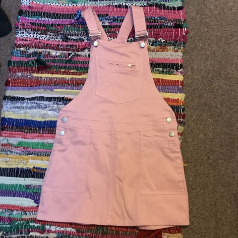 e963d5d66b3 Dusty baby pink pinafore dungaree dress