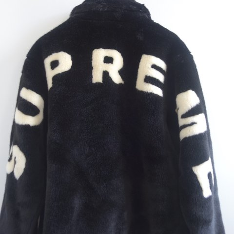 detailed look 6e44e 6992a  magizzal1. 2 years ago. London, United Kingdom. SUPREME FAUX FUR BOMBER  JACKET