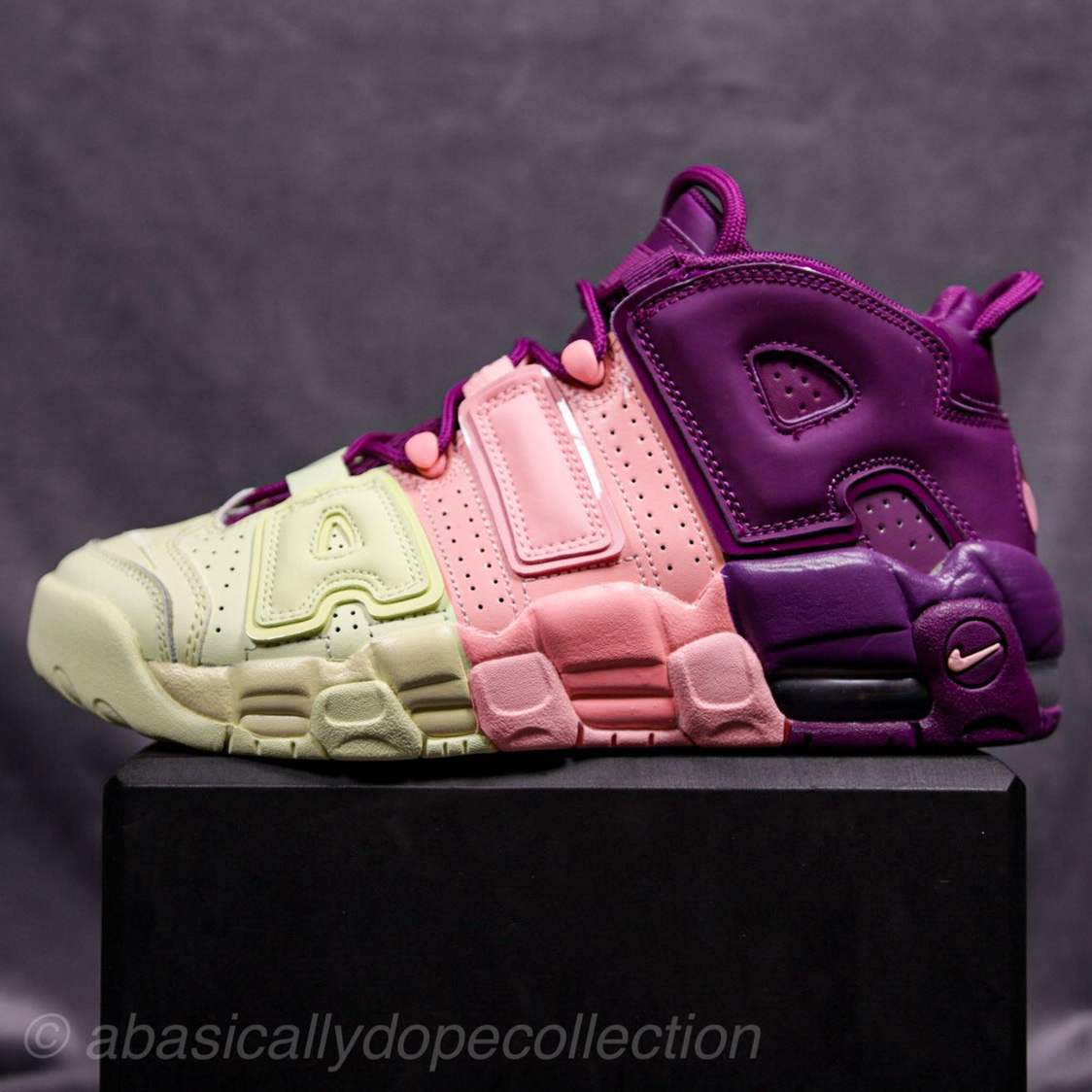 Nike Air More Uptempo GS Citron Pink Purple Size 6 Youth AV8237-800 New No Box