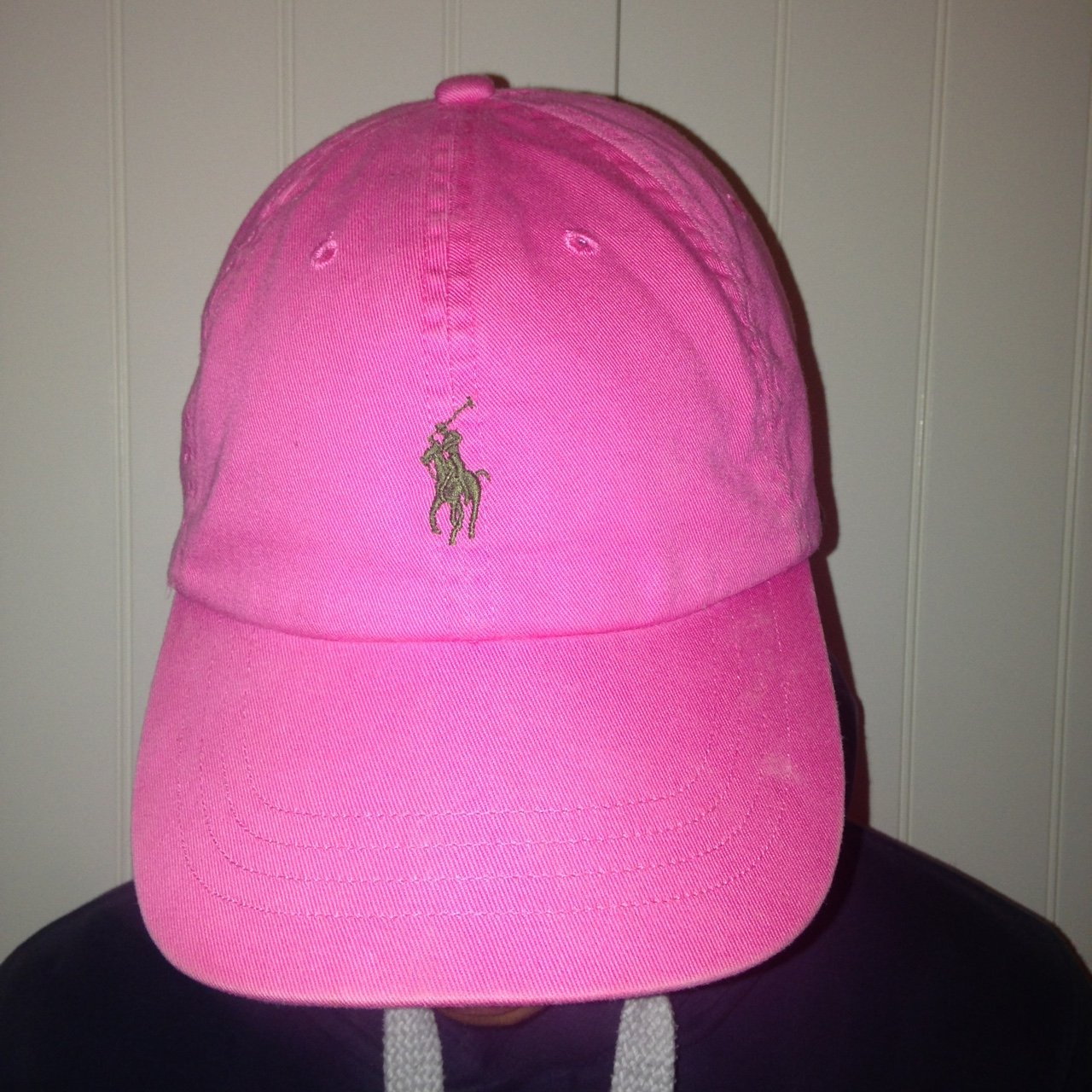222cba9103b Pink Ralph lauren Polo hat with green horse
