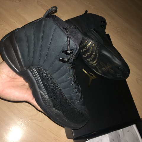 9c49d37204f9c0 PRICE DROP-STEAL Air Jordan 12 OVO Size 7 LISTENING TO - Depop