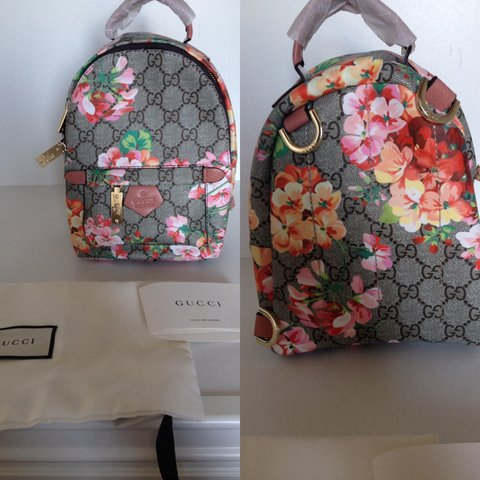 ac180983d02 Gucci ladies mini backpack in floral bloom. Would also suit - Depop