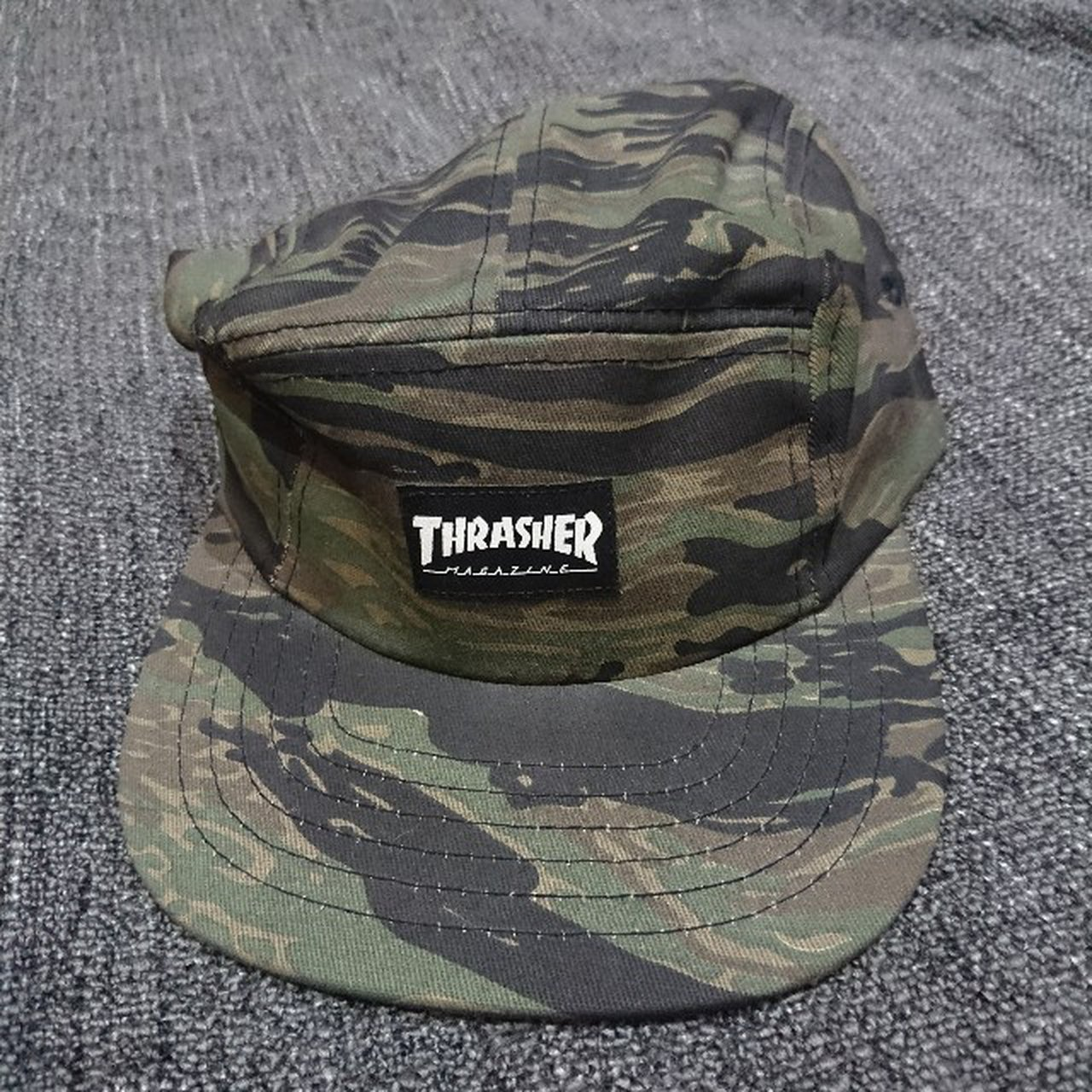 ed21d6207a2 Thrasher - 5 Panel - Tiger Camo Excellent Condition - Depop