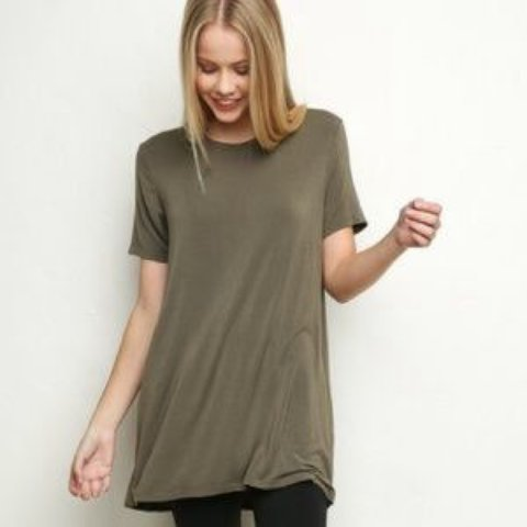 be5983fac7c9 @hannahgregory. 3 years ago. Laguna Niguel, CA, USA. Brandy Melville olive  green tshirt dress ...