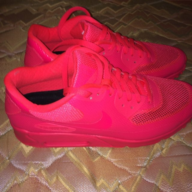 8e5f39c25b58 Brand new nike air max 90 hyperfuse solar red uk 9.5 but fit - Depop