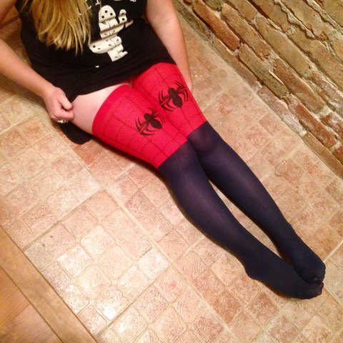 a4e8c54cef3 Super sexy Spider-Man thigh highs! Great for a costume or if - Depop