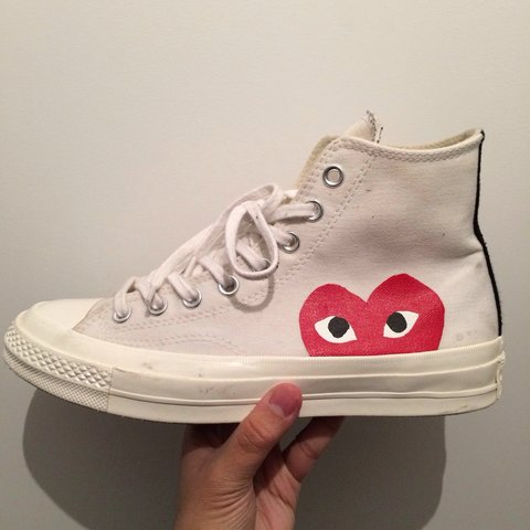 Comme Des Garcons CDG Converse Worn But In Supreme With