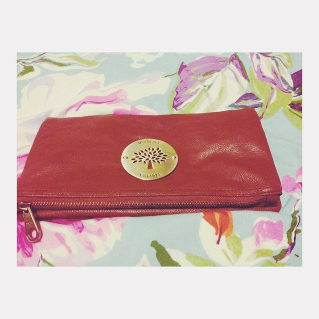 172e6f8b4db0 REPLICA mulberry fold clutch! Real leather! Details included - Depop