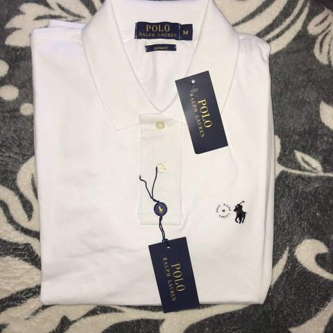 e5d4dcbe @laurenrrxo. 6 days ago. Leominster, United Kingdom. White Ralph Lauren  custom fit shirt sleeve polo ...