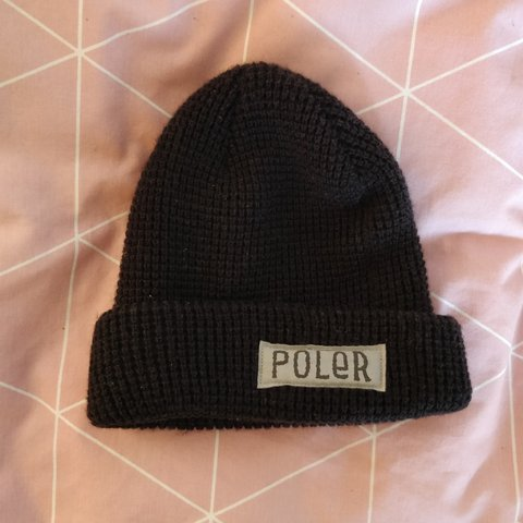 POLER BEANIE - BLACK PERFECT CONDITION ONE SIZE - Depop befd4e38025