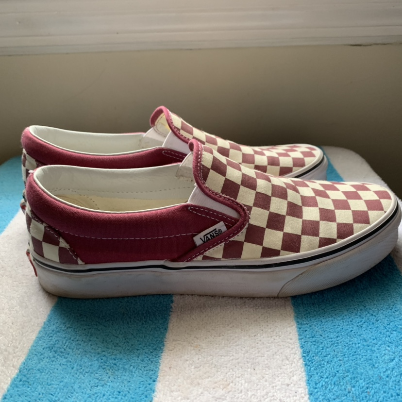 """checkerboard slip-on """"rumba-red/off"""