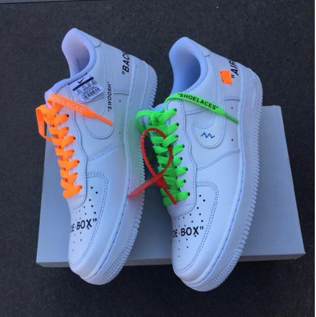 neon green air force 1 off white