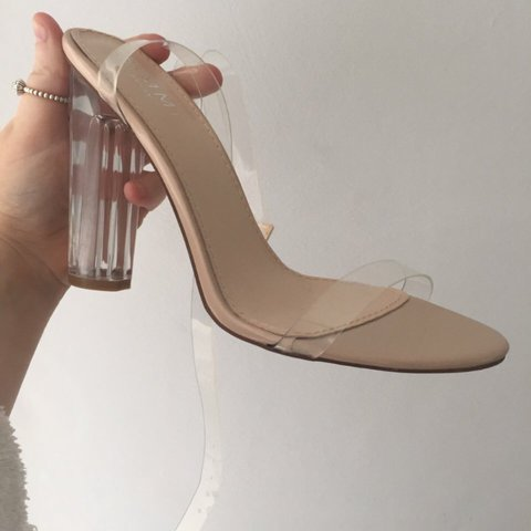 767134fc444 Simmi Shoes heels with clear strap. Size 6. Brand new with - Depop