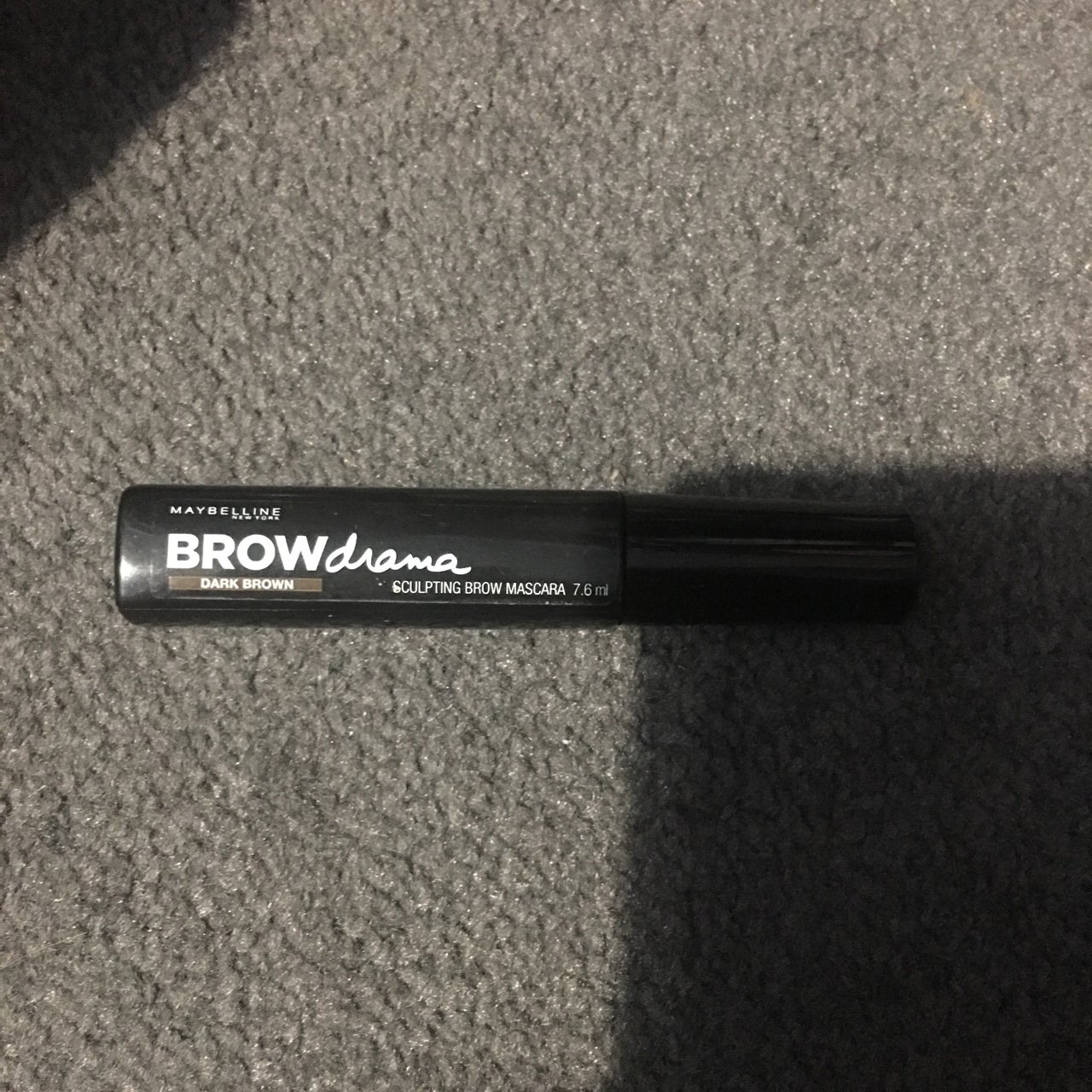 5b1ecdea65e Maybelline brow mascara dark brown new never used be took - Depop