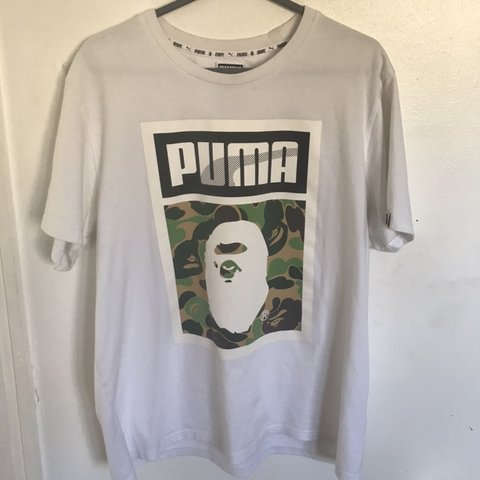 2f5ae4c6 @lewisparker19. 2 months ago. London, United Kingdom. BAPE X PUMA TEE SIZE  LARGE WORN ONCE- FITS TOO SMALL 7/10 CONDITION