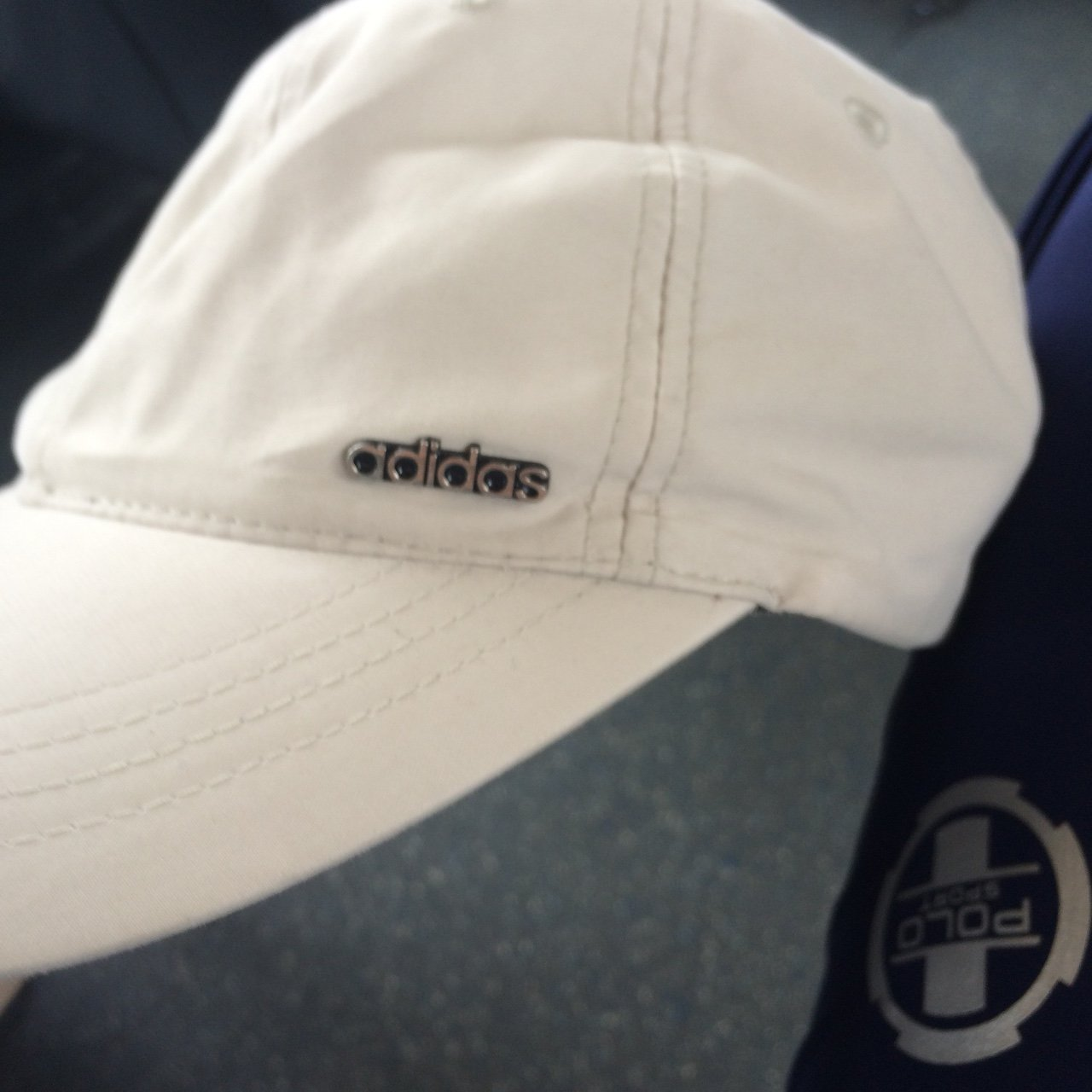 Fire likkle cream adidas cap wiv da metal logo. Light and - Depop 98ba6e13dc1