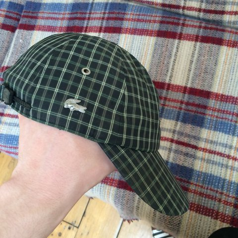 4d097fe1fd0 Chequered Lacoste cap some tiger woods shit. Retro Lacoste - Depop