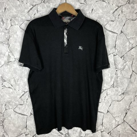 578b688c057eb Burberry black button up polo t shirt in amazing condition