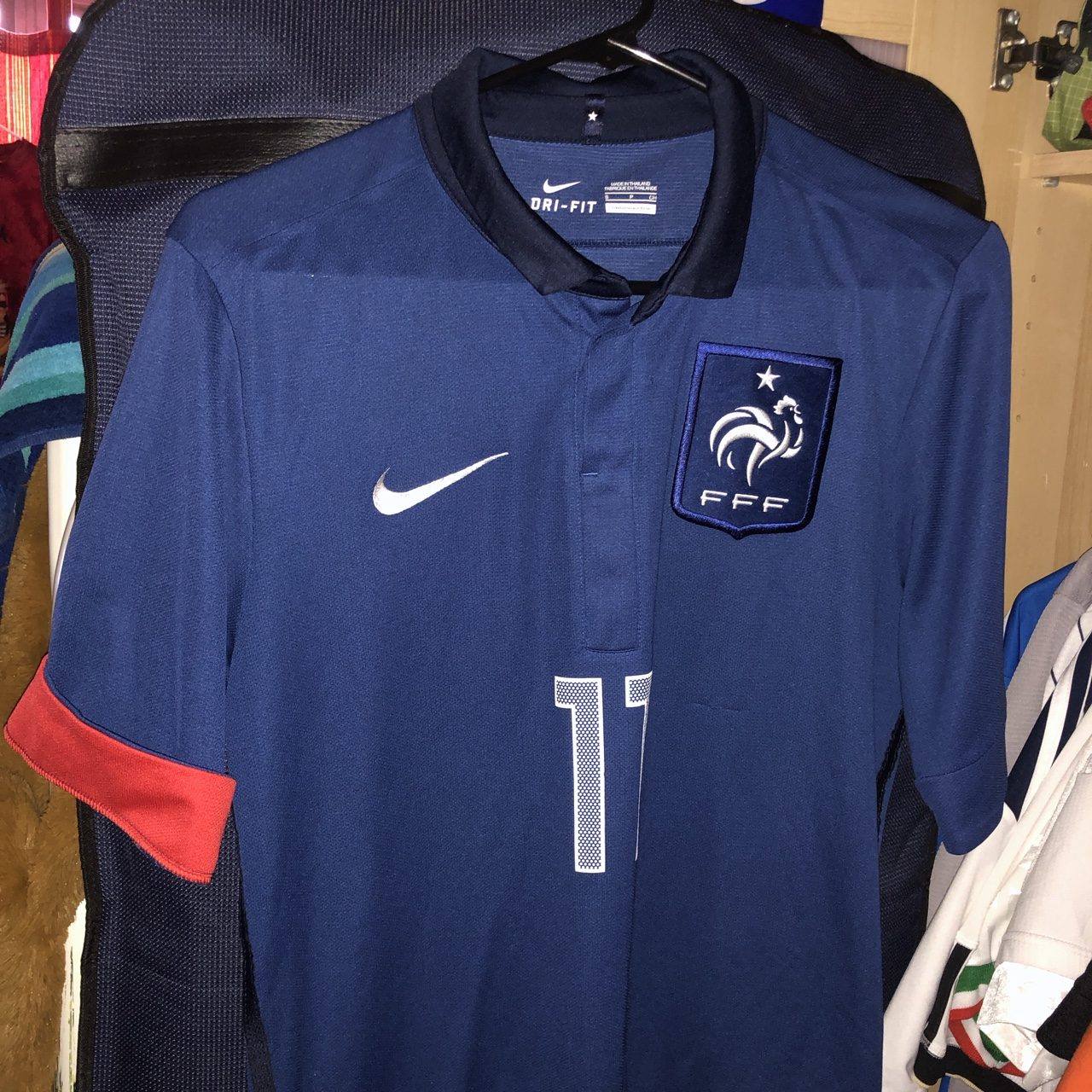 finest selection 3296a 635cb Nike 2010 World Cup France National Jersey w/ Nasri ...